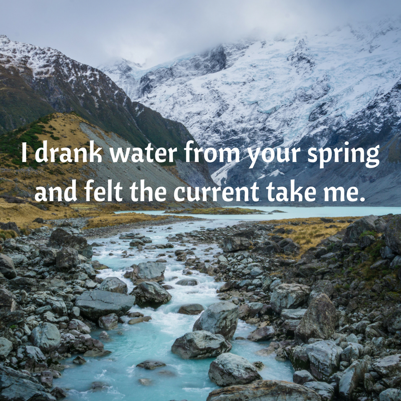 Water From Your Spring Rumi Quote Magnificent Quotes About Water